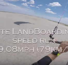Kite landboarding speed 49,08 mph GoPro 4K